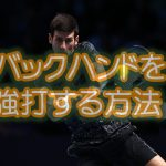 【テニス】僕が苦手な両手バックハンドの安定した強打を習得できた4つのコツと練習方法
